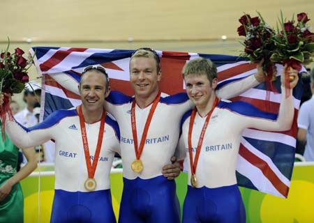 British cyclists at the 2012 Olympics (photo from Xinhua News Agency)